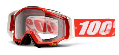 GOGLE 100% PROCENT RACECRAFT FIRE RED LUSTRZANKA