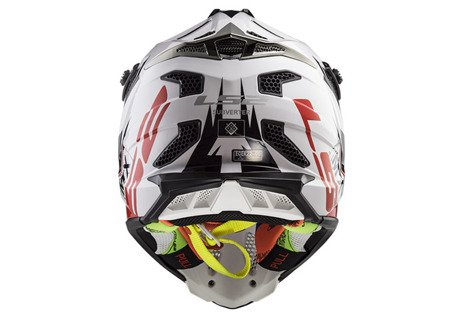 KASK LS2 CROSSOWY MX470 SUBVERTER EMPEROR WHITE RED